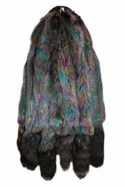 Лисица серебристо-черная отечественная крашеная мультиколор теплый