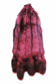 Лисица серебристо-черная отечественная крашеная фуксия