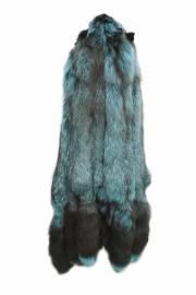 Лисица серебристо-черная отечественная крашеная бирюза