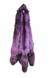 Лисица серебристо-черная крашеная фиолетовая