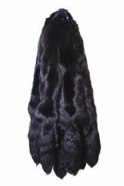 Лисица серебристо-черная отечественная крашеная черная