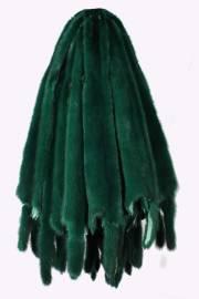 Норка крашеная зеленая
