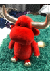 Игрушка КРАСНЫЙ БЫК из меха стриженной норки