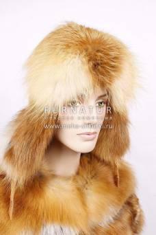 Ушанка из лисицы дикой