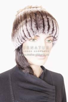 Вязаная шапка из рекса