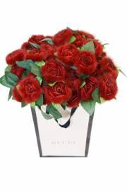 """Цветок из меха норки  """"Роза"""""""
