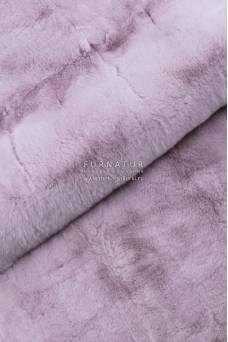 Пластина кролик рекс крашеная розовая