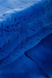 Пластина кролика Рекс крашеная синяя