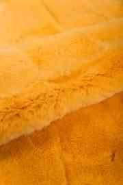 Пластина кролика Рекс крашеная желтая