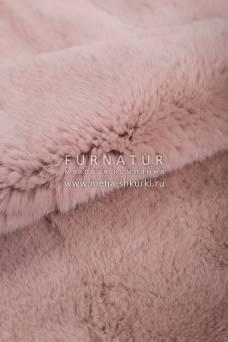 Пластина кролика Рекс крашеная пыльно-розовый