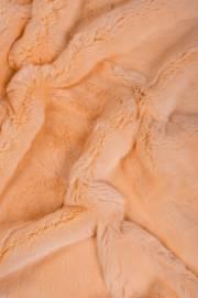 Пластина кролика Рекс крашеная персиковая