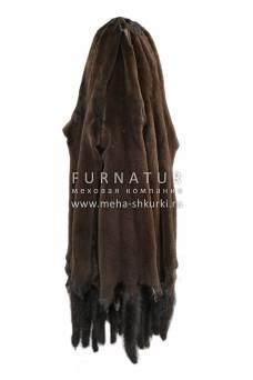 Норка крашеная коричневая щипаная, уценка