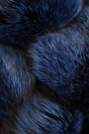 Лисица серебристо-черная отечественная крашеная синяя