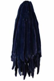 Норка крашеная синяя из серо-голубой