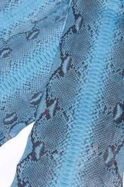 Кожа питона голубая