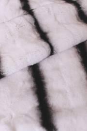 Пластина кролика Рекс белая с тремя хребтами