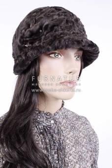 Шляпа из коричневого каракуля