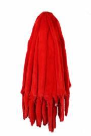 Норка крашеная красная