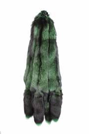 Лисица серебристо-черная отечественная крашеная зеленая