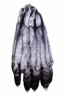 Лисица серебристо-черная длинноворсовая