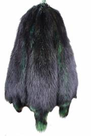 Енотовидная собака китайская крашеная Зеленая + Black Top