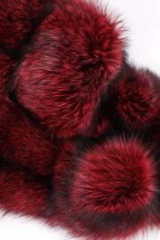 Лисица серебристо-черная отечественная крашеная красная