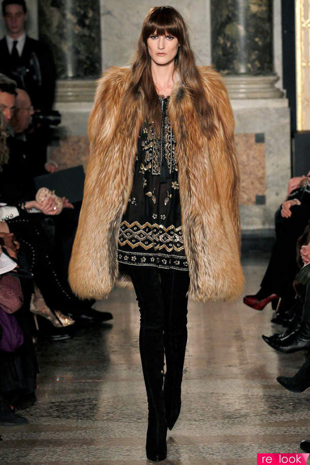 пальто из лисицы gold фото