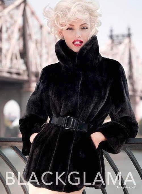 blackglama куртка с поясом фото