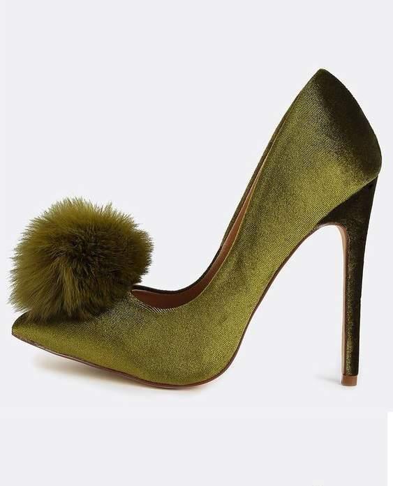 туфли норка олива фото