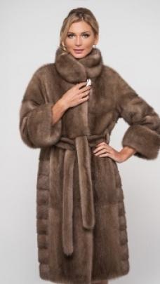 куртка из норки пастель фото
